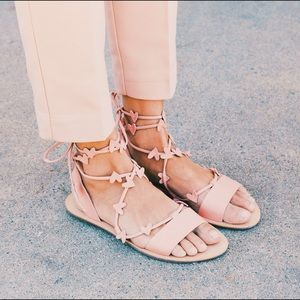 NEW Loeffler Randall Heart Wraparound Sandals